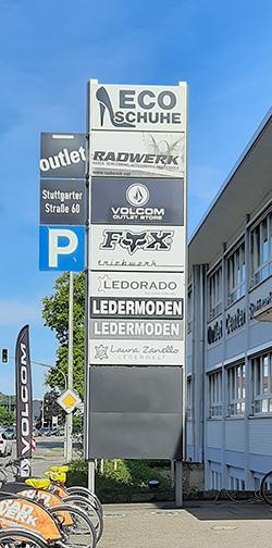 Firmentafel Stuttgarter Str. 60 Metzingen